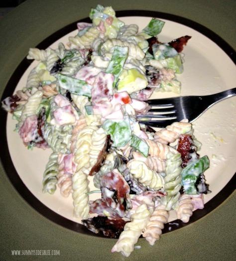 Finished BLT pasta salad!