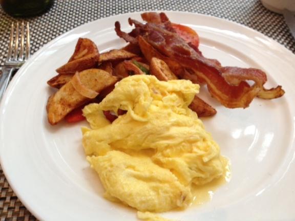 Two-egg breakfast from LA Market by Kerry Simon.