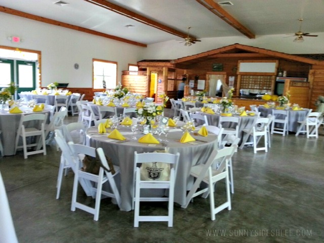 venue when it was decorated for our wedding