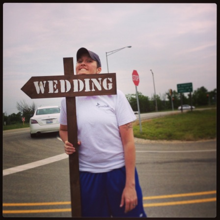 clean up crew! wedding this way!