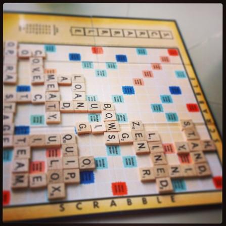 Fun game of Scrabble (I won!)