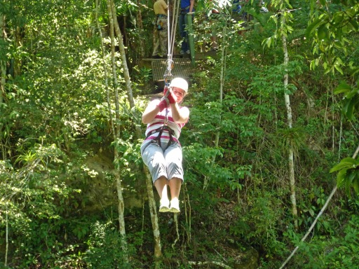 zip lining through the jungle in jamaica!