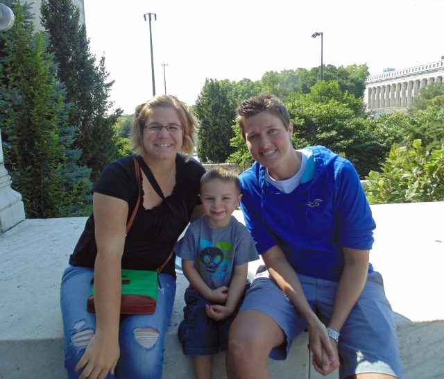 Caiden with his favorite aunts!