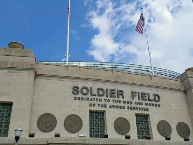 front of Soldier Field